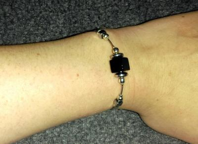 Bracelet Onyx - Hématite