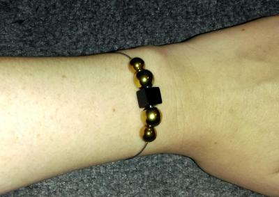 Bracelet Hématite Onyx