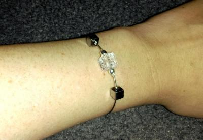 Bracelet Hématite - Cristal de verre