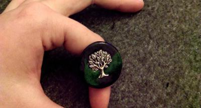 Bague Arbre vert