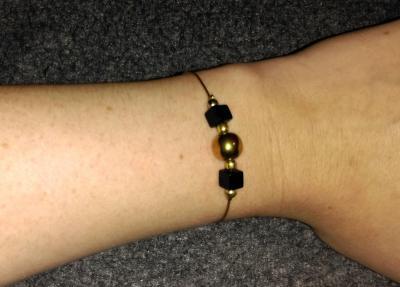 Bracelet Hématite - Onyx