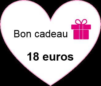 Bon cadeau 18 euros