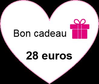 Bon cadeau 28 euros