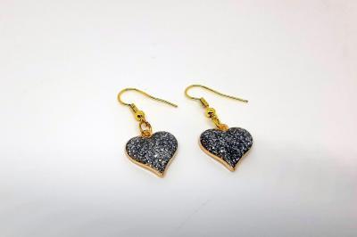 Boucles d'oreilles - Coeur argenté