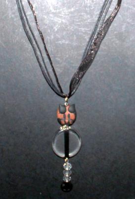 """""""Roméo"""" Corps transparent (trait noir milieu) et cristal de verre"""